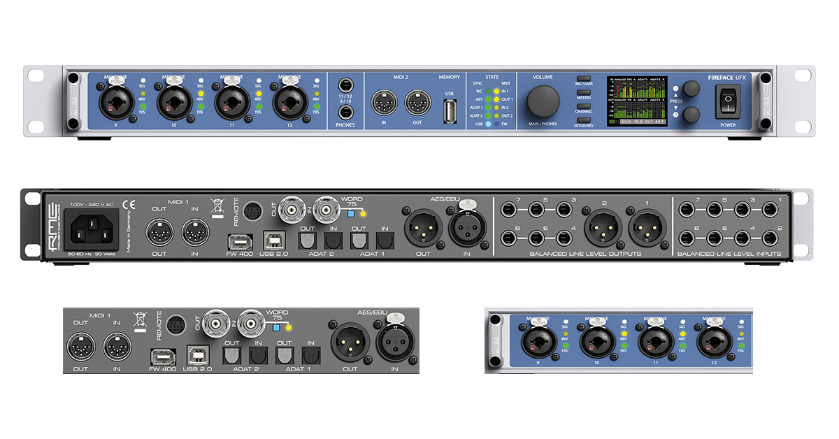 New Fireface UFX for High End Recording Studios