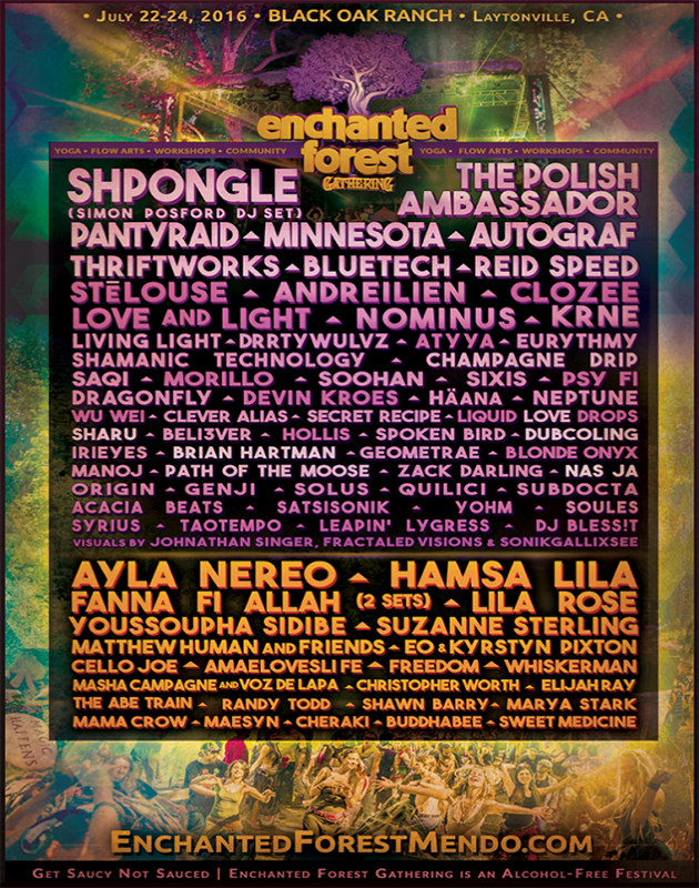 enchanted forest gathering 2016 lineup