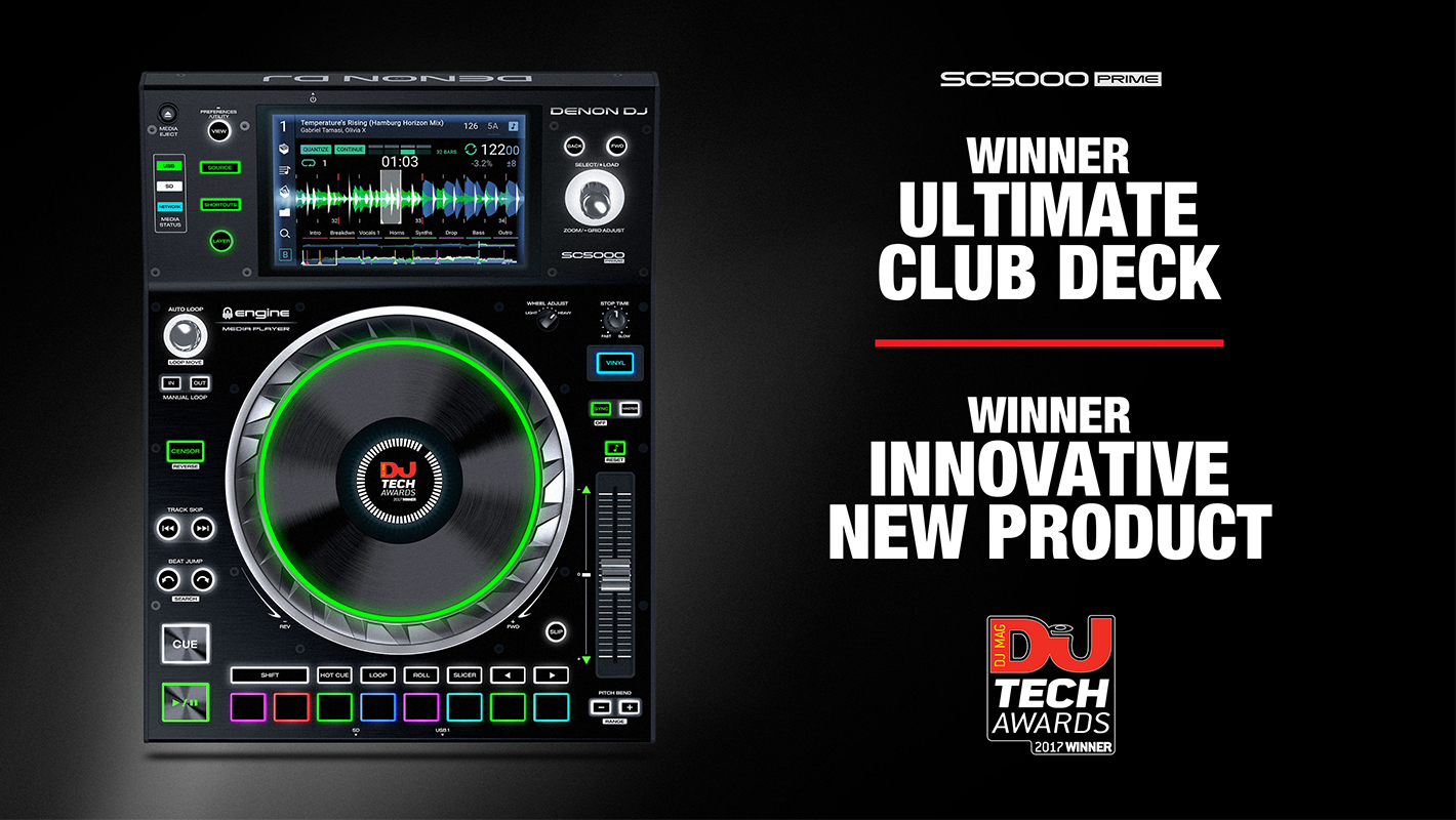 Denon DJ SC5000 Prime Wins Two DJ Mag Tech Awards