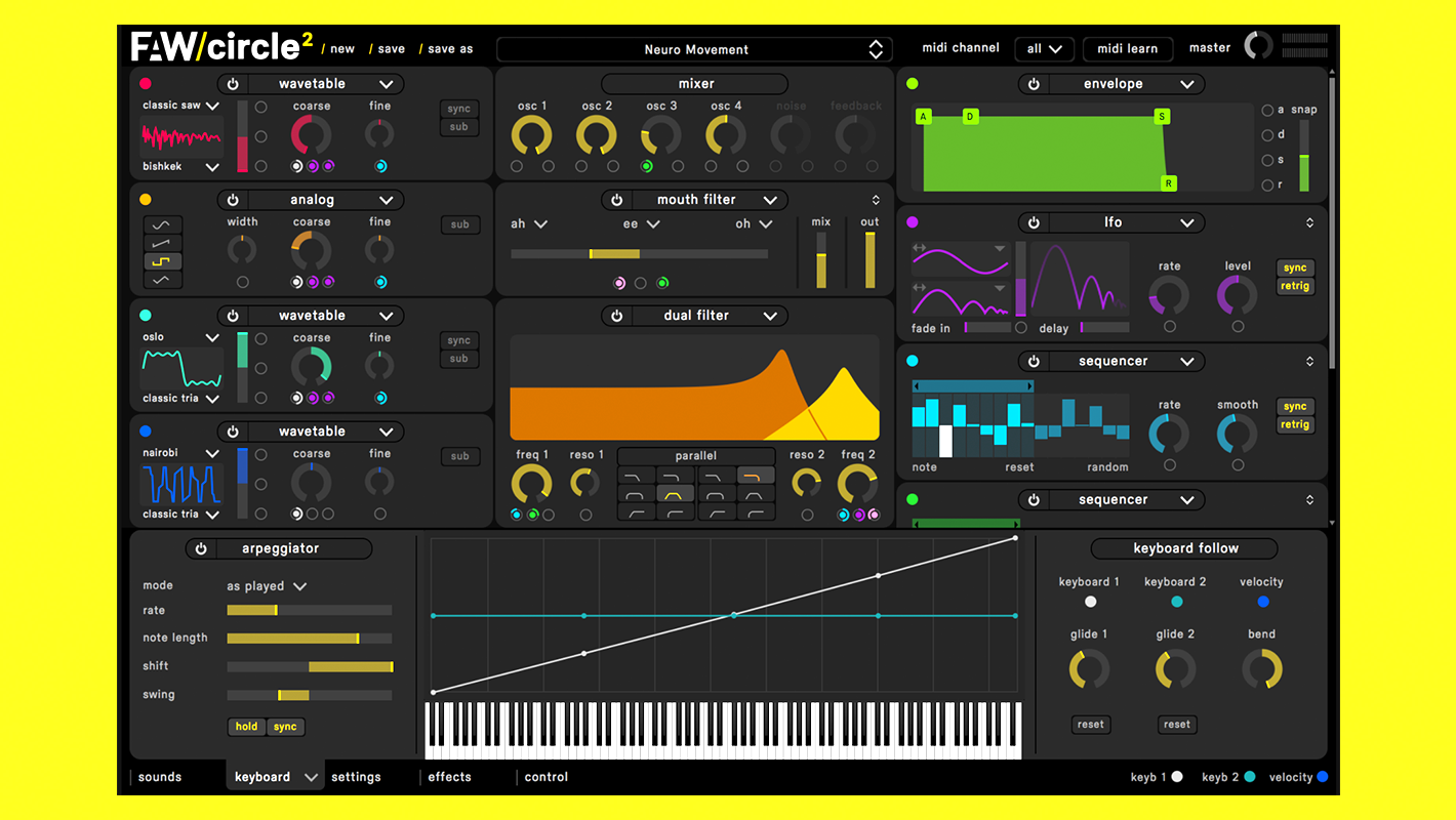 Splice Adds Circle² Synthesizer to the Rent-to-Own Plugin Lineup