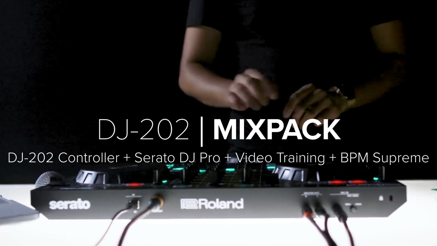 Roland DJ-202 Mixpack is a Complete Creative Bundle for DJs