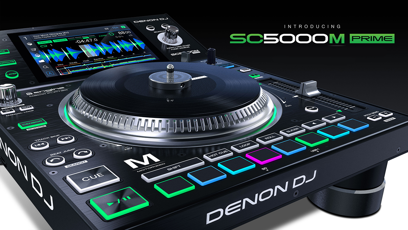 New Denon DJ SC5000M Media Player Combines Digital Media Player with a Vinyl Experience