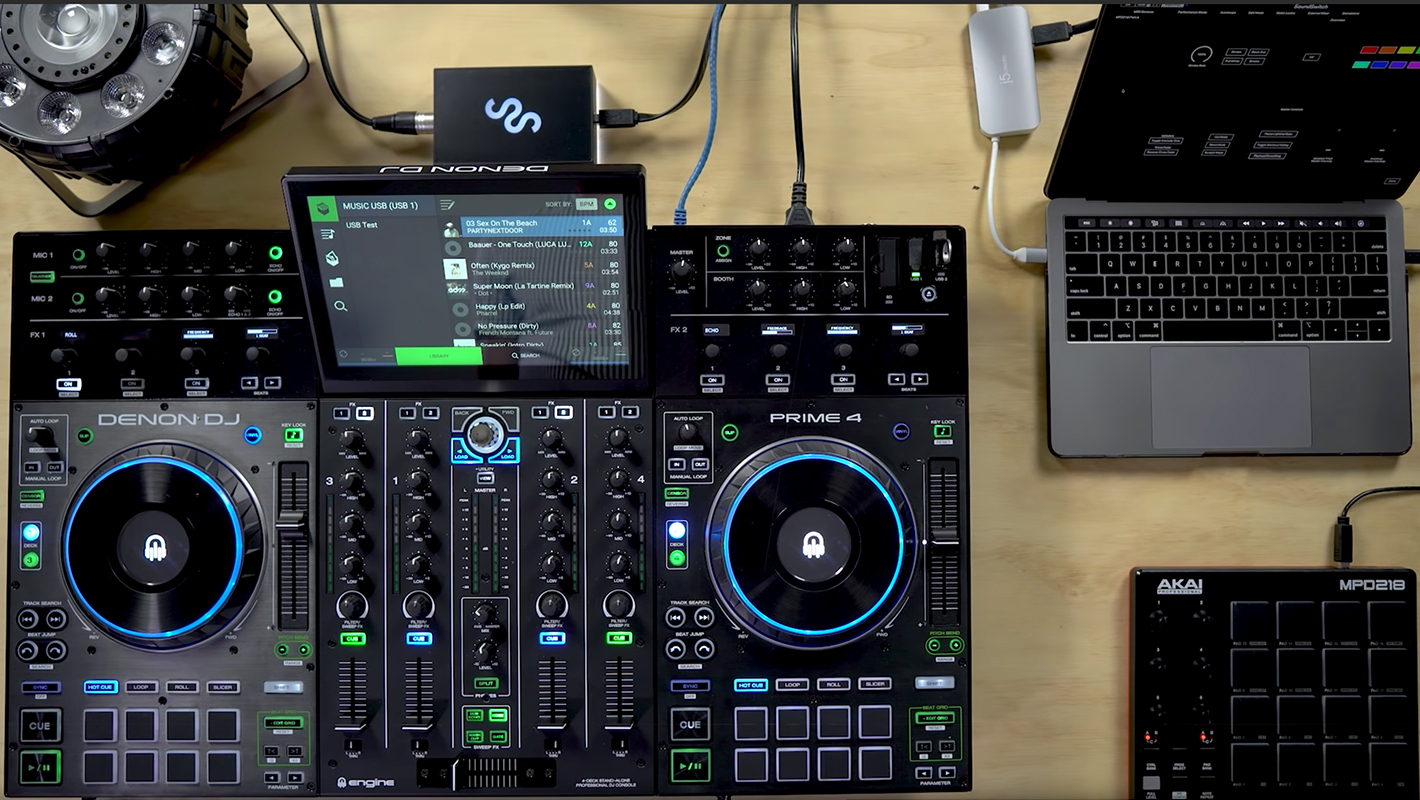 DJs Can Now Use SoundSwitch with Denon DJ's Prime 4 and SC000/M