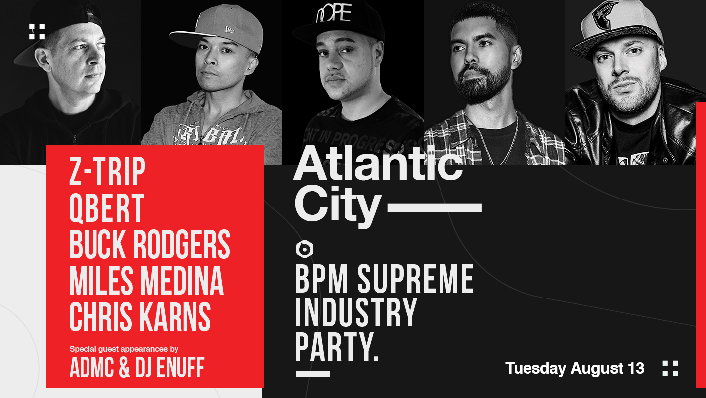 Z-Trip, Qbert, & More to Perform at BPM Supreme's Industry Party in Atlantic City