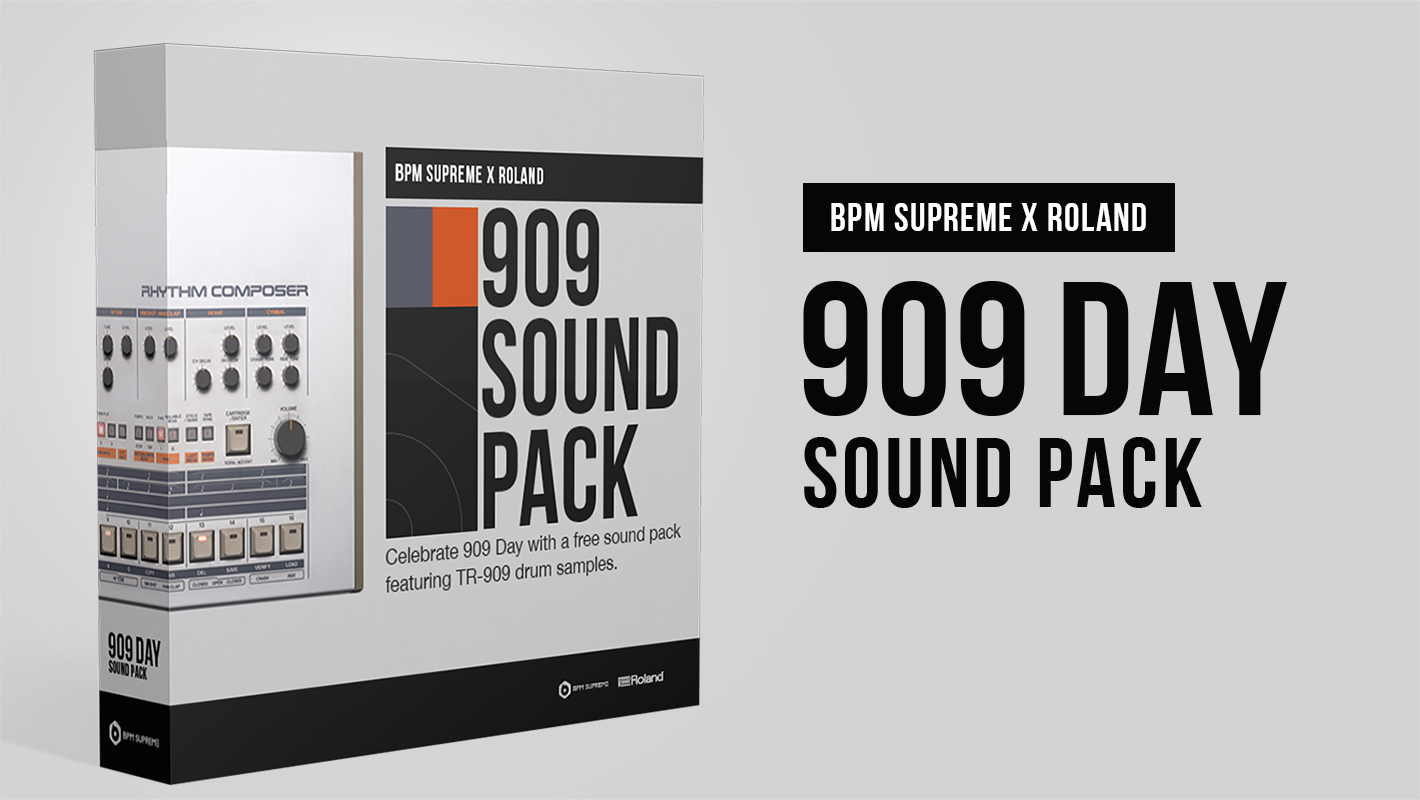 Get a Free Roland TR-909 Drum Sample Sound Pack for 909 Day