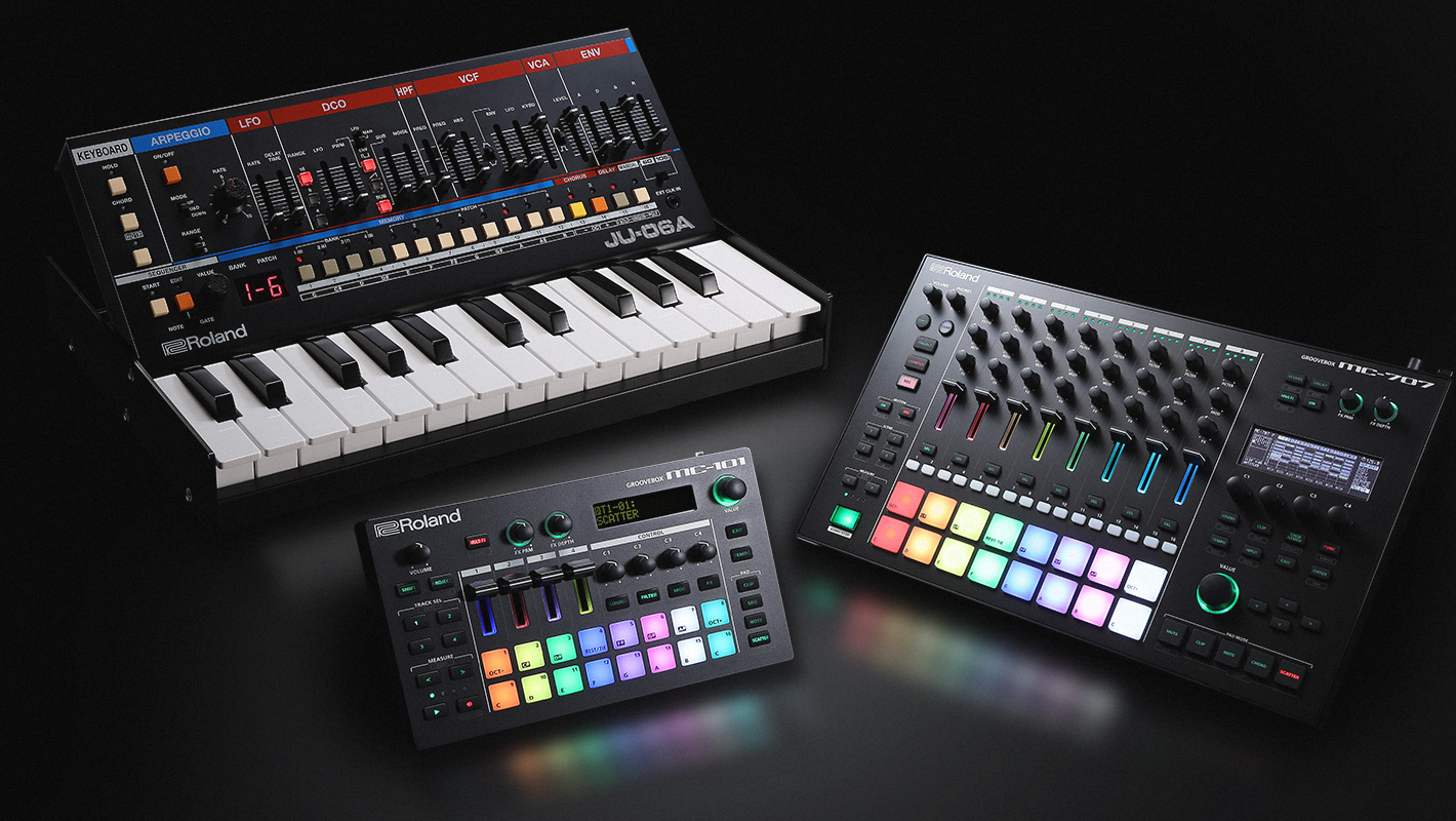 Roland Debuts New MC-707 + MC-101 GROOVEBOXES and JU-06A Synthesizer