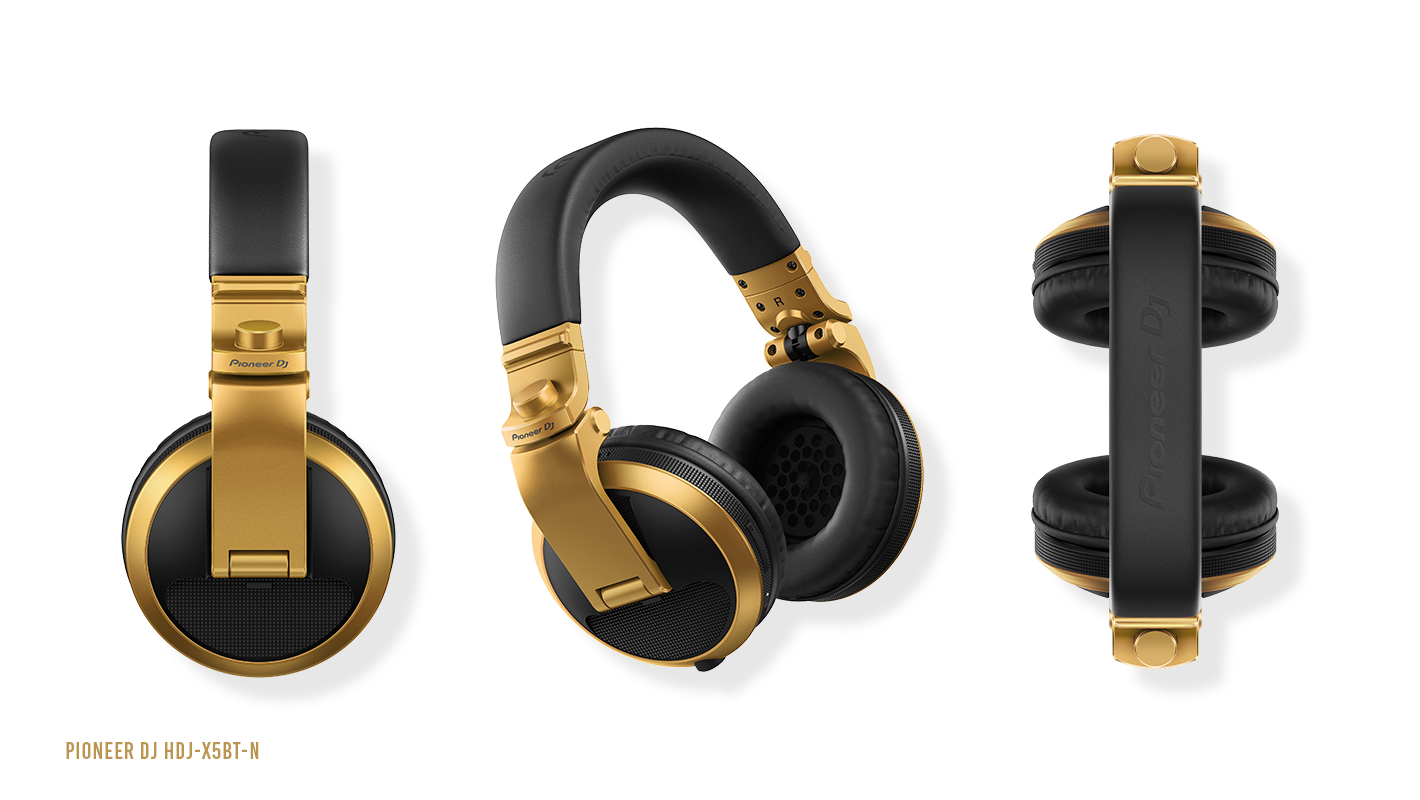 Make a Statement with Gold HDJ-X5BT Headphones from Pioneer DJ
