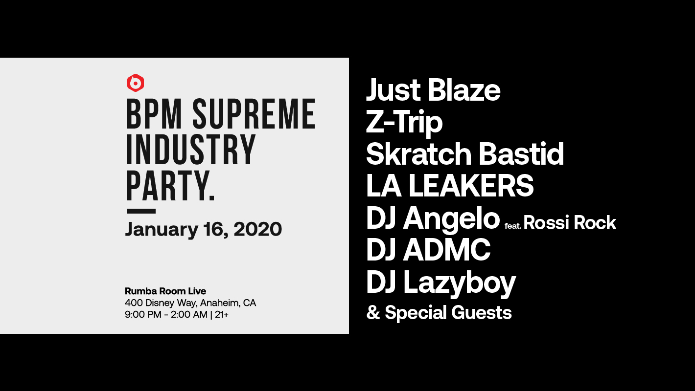 Just Blaze, Skratch Bastid, Z-Trip & More to Perform at the 2020 Industry Party